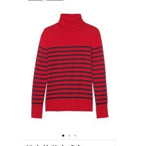 NWT Banana Republic striped merino sweater